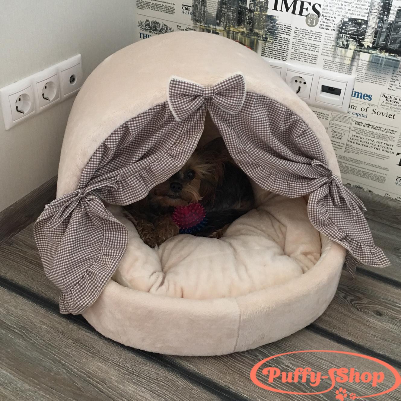 лежанка-домик для собак